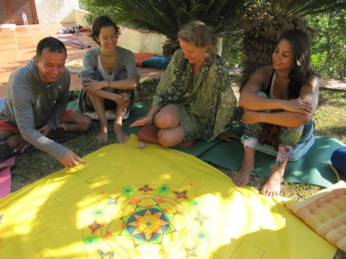 Group Mandala, Yoga Retreat, L'Estartit, Spain